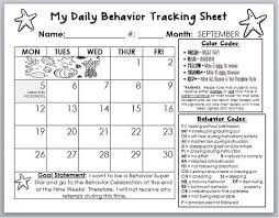 Class Of Fit Chart Behavior Calendar Template I Am Going To Tweak This To Fit