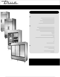 true manufacturing company refrigerator t 35 user guide truemfg com