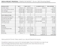 budgets sample film budget template easy tool for film budgeting
