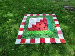 124 best Watermelon Applique/Quilt Patterns images on Pinterest ... & Watermelon picnic quily Adamdwight.com