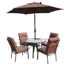 Amalfi 4 Seater Garden Dining Set With Parasol