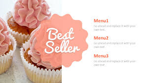 Design Your Own Cake Template Sweet Cupcakes Powerpoint Templates Design
