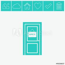 door vector icon open door symbol