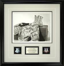 custom framed military print by mike t cherry