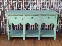 Mint painted shabby chic console entry table