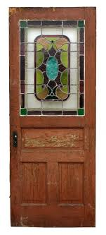 sold antique stained glass door 32 x 80