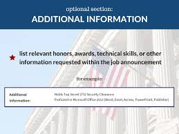 Additional Information On Resume FEDERAL RESUME 48