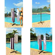 details about jamlyn ptr57 pool spa towel rack premium extra tall tree outdoor pvc white
