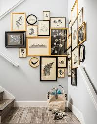 black picture frames wall. Wonderful Black A Chic Gallery Wall With Gold And Black Frames To Make The Corner More Eye Throughout Black Picture Frames Wall