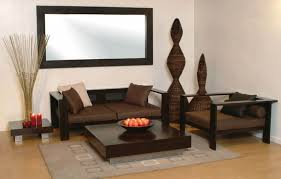 modern ideas small space living room design nice creativity simple brown colored wooden base