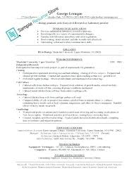 Resume Template Entry Level Simple Entry Level Medical Lab Technician Resume Sample Laboratory It
