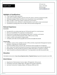 Resume Best College Student Resume Examples No Experience