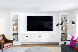 white built in cabinets tv wall ideas for home living room