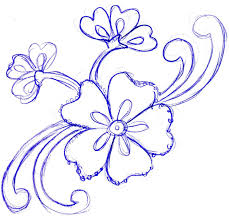 Flower Design Drawing Flower Design Drawing At Getdrawings Com Free For Personal