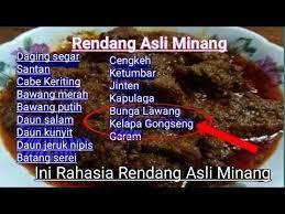 Bahan bumbu dan rempah untuk resep membuat rendang daging padang: 8 Ideeen Over Rendang Indonesische Recepten Recepten Lekker