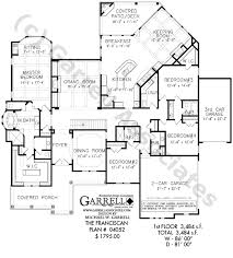 floor plan of a one story house. Franciscan 04052, Luxury House Plans, Ranch Plans Floor Plan Of A One Story