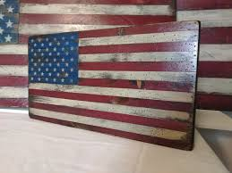 small 18 slat wood flag rustic american flag shiplap wood american flag american flag wall art wood american flag fixer upper decor