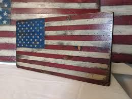 small 18 slat wood flag rustic american flag shiplap wood american flag american flag wall art wood american flag fixer upper decor