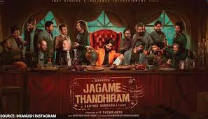 The makers announced the release time with a special poster featuring the actor. Dhanush Shares New Poster From Jagame Thanthiram Unveils His Character Name