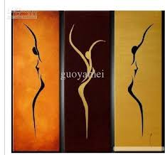 3 piece wall art sport beauty landscape oil painting on canvas fine art figure painting for home decoration