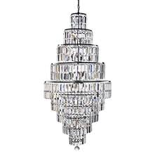 empire 13 light chrome chandelier with clear bevelled glass ts as seen in next window display