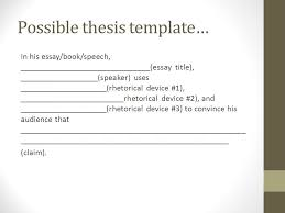 how to write a rhetorical analysis ppt  9 possible