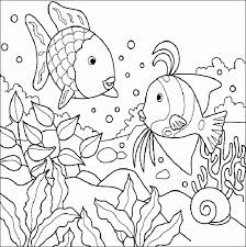Small Picture Sea creature coloring pages Three fish