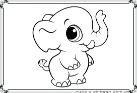 free coloring pages baby elephant and printable of elephants pa