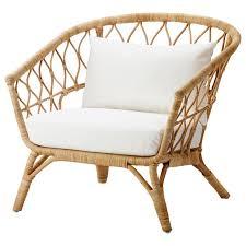 stockholm 2018 chair with cushion rattan röstånga white