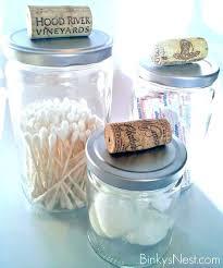 bathroom canisters glass storage jars mercury