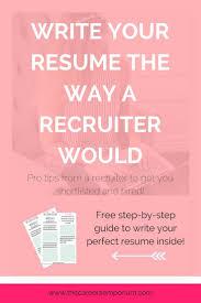 128 Best Resume Work Images On Pinterest Resume Work Resume