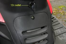adding a power outlet to your scooter scooter focus all about 12v outlet on scooter