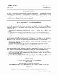 Sales Resume Summary Statement Authentic Retail Store Manager Resume