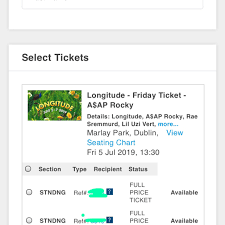 Selling X2 Friday Longitude Tickets Message Me Depop