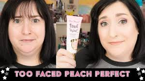 too faced peach perfect fort matte dry skin over 40 friday foundation fix