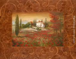 fields of tuscany ii painting vivian flasch fields of tuscany ii art painting