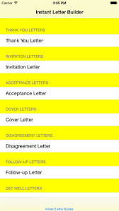 Instant Letter Builder En App Store