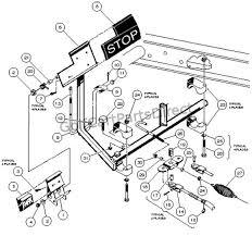 brake pedal & cable assembly 4 wheel braking club car parts club car ds service manual pdf at Club Cart Parts Diagram