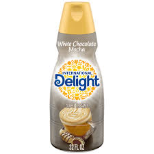 Well, the international delight coffee creamer in different exotic flavor options. International Delight White Chocolate Mocha Liquid Coffee Creamer Shop Coffee Creamer At H E B