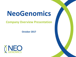 Company Overview Slides Neogenomics Inc 2017 Q3 Results Earnings Call Slides