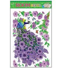 Small Picture Buy PIndia 3D Purple Flower Peacock Design Multicolour Non Toxic