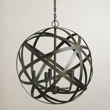 metal orb chandelier orb chandelier