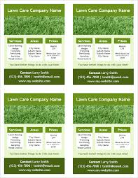 Lawn Care Flyer Template Word I Just Downloaded A Simple Lawn Care Flyer 4 Per Page For Word