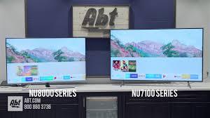 Samsung Smart Tv Comparison Chart Samsung Tv Comparison Nu8000 Series Vs Nu7100 Series