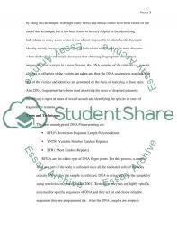 dna fingerprinting essay example topics and well written essays dna fingerprinting essay example