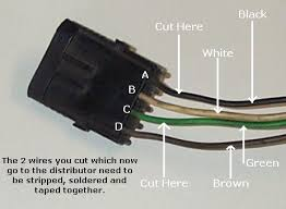 replacing the esc distributor a non esc note here is a photo i made of the plug which goes to the esc control and feeds the ignition which dan mentioned above i labeled the wires which need to