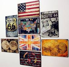 wall art for home office. TOP COOL WALL ART-- 8 Pieces HOME Office BAR RETRO Plate Art Decor Wall For Home D
