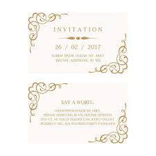 invitations cards free wedding invitation card vector free download