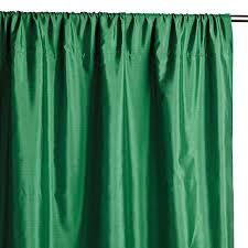 silk shantung green window panel