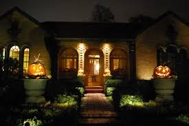 home lighting effects. View In Gallery Scary Path And With Halloween Pumpkins Well-lit Entry Home Lighting Effects L